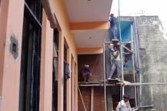 escalier vers le rez-de-chaussée du nouveau bâtiment