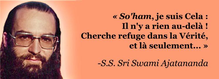 S.S. Sri Swami Ajatananda Saraswati