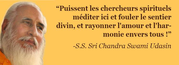 Message de S.S. Sri Chandra Swami Udasin (21 novembre 2010)