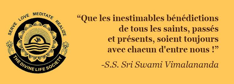 Message de S.S. Sri Swami Vimalananda Saraswati (21 novembre 2010)